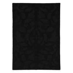 Dynamic Rugs - Dynamic Rugs Aria 1109-90 (Black) 5' x 8' Rug - Aria is a brand new handmade wool rug collection styled for Dynamic Rugs by Posh* Fashionation. Various textures of wool are combined to create a styling that is sure to add interest to any room. Aria is exquisitely hand tufted and then hand carved for added depth by master craftsmen in India. These rugs are styled largely of 100% un-dyed wool color shades, with some vivid dyed hues such as fashionable aquas accentuate the designs.