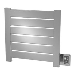 Amba - Block 22x22 Electric Heated Towel Warmer, Brushed - •Dual-purpose radiator functions as towel warmer and space heater