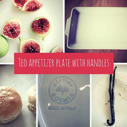 Teo Italian appetizer plate with handles - We ♥