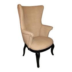 NOIR - NOIR Furniture - Blon Chair in Hand Rubbed Black - SOF181HB - Features: