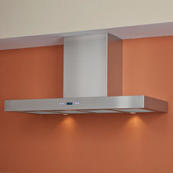 """36"""" Treviso Series Stainless Steel Wall-Mount Range Hood - An excellent choice for the modern kitchen, the 36"""" Treviso Series Stainless Steel Wall-Mount Range Hood will quickly clear away unwanted cooking odors. Made of stainless steel and featuring a six-speed internal blower."""