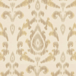 """Ballard Designs - Como Ikat Dijon Sunbrella Fabric by the Yard - Content: 100% Sunbrella® Acrylic. Repeat: Railroaded fabric, 13 1/4"""" repeat. Care: Spot wash with mild soap. Width: 54"""" wide. Refined Ikat-style floral of golden mustard & taupe on cream, washable, easy-care Sunbrella acrylic. Content: 100% Sunbrella Acrylic . . . . Because fabrics are available in whole-yard increments only, please round your yardage up to the next whole number if your project calls for fractions of a yard. To order fabric for Ballard Designs special order items, please refer to the order instructions provided for each product.Ballard offers free fabric swatches: $5.95 Shipping and Processing, ten swatch maximum. Sorry, cut fabric is non-returnable."""
