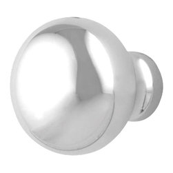 """Renovators Supply - Cabinet Knobs Bright Chrome 1"""" Dia Colonial Cabinet Knob - Simplicity is key here! This beautiful Colonial Chrome Knob has a diameter of 1""""."""
