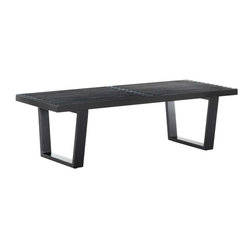 Modway - Sauna 4' Bench in Black - The Sauna Bench is a versatile piece of furniture perfect for businesses and private homes alike. Appropriate for porches, halls and receptions areas, it can also be used as accent seating for living rooms or kitchens.