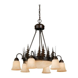 Vaxcel International Co Ltd - Yosemite 9L Chandelier - Vaxcel International Co Ltd products are highly detailed and meticulously finished by some of the best craftsmen in the business.