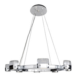 ET2 Lighting - ET2 Lighting E22898-89PC Volt LED Chrome Multi-Light LED Pendant - ET2 Lighting E22898-89PC Volt LED Chrome Multi-Light LED Pendant