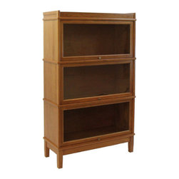 Hale - Extra Deep Complete Stack with Locks for Bookcase - Originally known as the Barrister's Bookcase, Hale's sectional shelving has evolved from a case in which to store law books, to a modular system that can be used in every room any room of your home for any purpose.