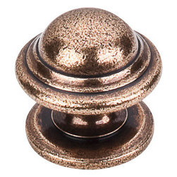 "Top Knobs - Empress Knob 1 1/4"" - Old English Copper - Length - 1 1/4"", Width - 1 1/4"", Projection - 1 1/4"", Base Diameter - 1 1/4"""