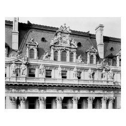 Hall of Records Statuary, New York Print - Hall of Records Statuary, photographed by Irving Underhill in 1906. Statuary on exterior of Hall of Records, New York City.