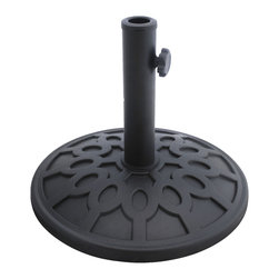 Bond - Bond 63138 Stone Resin Umbrella Base - The Stone Resin Umbrella Base combines a timeless design with the versatility of environmentally friendly materials. The umbrella base is 100% rust proof so you'll never need to worry about it staining your deck or patio.