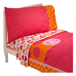 Crown Crafts Infant Products - Ladybug Toddler Bedding Set - FEATURES: