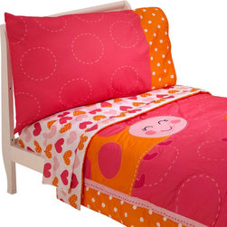 Crown Crafts Infant Products - Ladybug Toddler Bedding Set Carters Comforter Sheets - FEATURES: