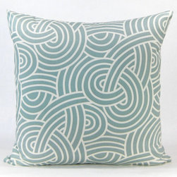 Swirling Knots Throw Pillow -