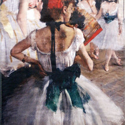 "Degas The Dancing Lesson Street Banner Wall Art - From the de Young museum an authentic, limited edition street banner to display in your home as spectacular wall art. During his life, Edgar Degas rejected his role in Impressionism, saying ""no art was ever less spontaneous than mine."" He was no doubt referring to his deep respect for the old masters which he copied well into middle age. But his Parisian scenes, dancers and horses, off-center viewpoints, vivid colors and broad brushstrokes, and friendship with édouard Manet and Mary Cassatt, inextricably link him to the movement. Degas also quickly embraced the new technique of photography, which he used to freeze time, so that he might capture the moment with brush and paint."
