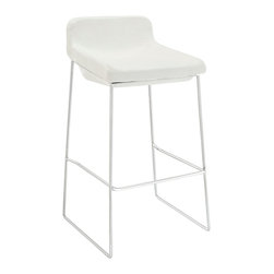 Modway - Garner Bar Stool - Go mod in your bar with this striking, simple stool. Its leggy, chrome-plated aluminum frame is minimalist to the max, yet the generously padded foam seat offers the comfort of a lounger.