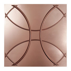 """Celestial Ceiling Tile - Faux Copper - Perfect for both commercial and residential applications, these tiles are made from thick .03"""" vinyl plastic. Their lightweight yet durable construction make these tiles easy to install. Waterproof, these tiles are washable and won't stain due to humidity or mildew. A perfect choice for anyone wanting to add that designer touch at an amazing price."""