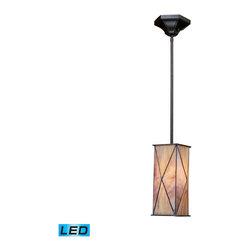 ELK Lighting - ELK Lighting 70152-1-LED Grand Facet Tiffany Bronze Mini Pendant - ELK Lighting 70152-1-LED Grand Facet Tiffany Bronze Mini Pendant