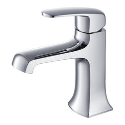 Fresca - Fresca Verdura Single Hole Mount Bathroom Vanity Faucet - Chrome - This single hole faucet is made from heavy duty brass with a chrome finish.  Features ceramic mixing valve for longevity and watertight functionality.