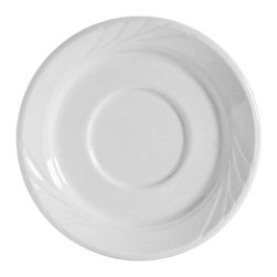 Tuxton - TuxCare 5 1/2 inch Sonoma Saucer Porcelain Whtie - Case of 36 - Our plates and dishes are designed to combine with insulated domes bases and other innovative food systems for extended heat retention. Whether it is casual or extravagant the classic embossed pattern of Sonoma delivers a tabletop worth remembering.