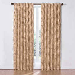 Waverly - Lovely Lattice Natural Panel - - Drape your home in elegant window curtains by Waverly. Inspired by garden architecture, this 50-inW x 84-inL window panel brings the outdoors in with a traditional white trellis pattern on a black ground. Perfect for kitchen, bedroom, living room or bath.  - Panels have rod-pocket and back tab hanging options. Hang two panels and coordinating valances for optimal coverage and look. Coordinating valance sold separately.  - 100% cotton, unlined. 3-in rod pocket, fits up to a 2.5-in rod.  - Machine wash. Rod sold separately. Waverly - 12458050X084NAT