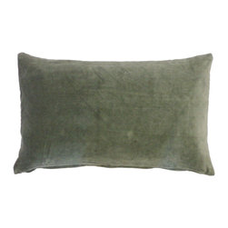 JITI - Small Velvet Moss Pillow - Who can resist a classic? With this velvet throw pillow, available in oodles of sizes and colors, you won't have to! Ideal for mixing and layering, go ahead and experiment. Change your look as often as you can move this one here, and that one there. Anywhere it lands, it's a perfect fit.