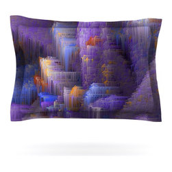 "Kess InHouse - Michael Sussna ""Purple Mountain Majesty"" Purple Pillow Sham (Cotton, 40"" x 20"") - Pairing your already chic duvet cover with playful pillow shams is the perfect way to tie your bedroom together. There are endless possibilities to feed your artistic palette with these imaginative pillow shams. It will looks so elegant you won't want ruin the masterpiece you have created when you go to bed. Not only are these pillow shams nice to look at they are also made from a high quality cotton blend. They are so soft that they will elevate your sleep up to level that is beyond Cloud 9. We always print our goods with the highest quality printing process in order to maintain the integrity of the art that you are adeptly displaying. This means that you won't have to worry about your art fading or your sham loosing it's freshness."