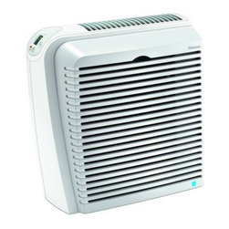 Jarden Home Environment - Holmes Large HEPA Air Purifier - Holmes HAP726-U True HEPA Allergen Remover for Medium to Large Rooms is up to 99.97% efficient in removing allergens such as pollen dust mold pet dander and smoke from the air passing through the filter. It also helps fight common household odors with the power of Arm and Hammer Baking Soda.