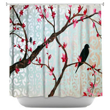 Contemporary Shower Curtains by DiaNoche Designs