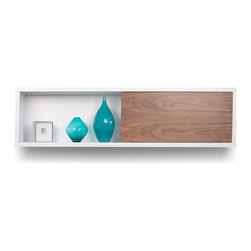 Temahome - Temahome Nilo Wall Module, Walnut - Modern flavor with exquisite minimalist design.