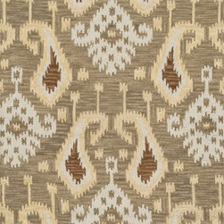 "Loloi Rugs - Loloi Rugs Milano Collection - Taupe, 5'-0"" x 7'-6"" - The Milano Collection from India celebrates popular, high-fashion Ikats, but with a twist. Here, a chunky, hand-hooked construction in 100-percent wool adds lush texture and dimension to this series of nine distinctive, large-scale Ikat patterns. Complemented with a designer palette that will enliven any room, the Milano Collection comes in a full spectrum of up-to-date brights and neutrals."