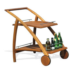 Haste Garden - Riviera Serving Trolley - Robinia wood is resistant to decay. All of the wood used in our furniture is sourced from Europe and is 100% FSC certificated.