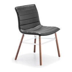 ZUO MODERN - Trondheim Chair Black Leatherette (set of 2) - Trondheim Chair Black Leatherette
