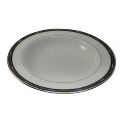 Lenox - Lenox Diamond Solitaire  Rim Soup / Pasta Bowl - Lenox Diamond Solitaire  Rim Soup / Pasta Bowl