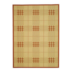 """Safavieh - Courtyard Brown/Red Area Rug CY1587-3201 - 6'7"""" x 6'7"""" Round - Safavieh takes classic beauty outside of the home with the launch of their Courtyard Collection. Made in Belgium with enhanced polypropylene for extra durability, these rugs are suitable for anywhere inside or outside of the house. To achieve more intricate and elaborate details in the designs, Safavieh used a specially-developed sisal weave."""
