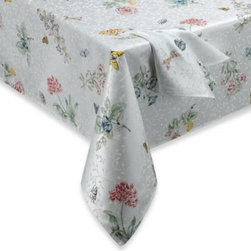 Lenox - Lenox Butterfly Meadow Tablecloth - Turn any meal into a special occasion with this beautiful tablecloth. The lovely springtime design will add a delightful ambiance to your gathering all year long.