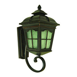Yosemite Home Decor - 5214ORB-S Amelia 1-Light Outdoor Wall Sconce with Water Glass Shade - Small - Step back into the days of gas lights and brass fixtures with this antique-inspired exterior wall sconce. Perfect for flanking a home or garage door, this home accent serves a practical need while adding a touch of class, sophistication, and history to your home. The neutral and classic design complements almost any home exterior, and individuals will find the sconce a far cry from the simple bare bulbs that many homeowners rely on. Instead of harsh light and an unpleasant design, choose a wall sconce that offers soft, attractive light and an attractive design. DesignTimeless and beautiful, this outdoor wall sconce has the look of the polished brass lamps that were so popular around the turn of the century. Excellent metal detail and clear water glass make this outdoor sconce a pleasure to behold whether the light is turned off or on. The steel and aluminum casing is designed to offer the appearance of oil rubbed bronze, so this wall sconce is gorgeously colored and perfectly suited to complement the exterior of any home. Detailed but neutral, the design is also easy to match to other lamps and exterior art or accents.DurabilityLike all Yosemite Home Decor items, this product is built to last. Crafted from steel, aluminum, and glass, the outdoor wall sconce can easily stand up to the trials of bad weather. It comes with all necessary hardware for an easy installation and is built to make a strong connection with your exterior wall. Strategically placed metal frame means that the glass will not easily be broken.LightingThe outdoor wall sconce provides sufficient light for most outdoor functions. It is especially useful as a porch or patio light. The exterior home light must be fitted with 60 watt bulbs and has a voltage of 110.