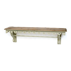 Madeleine Shelf - Simply and functionality and grace to your space with highly spacious, wall mounting wooden shelf. This Madeleine Shelf with brackets, featuring antique white painted finish is a typical shelf kits for home display and storage.