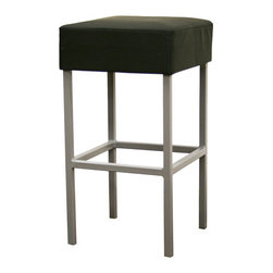 Baxton Studio - Baxton Studio Andante Black Faux Leather Counter Stool - Simplicity, modernity, and versatility in the design of this counter stool make it a crowd-pleaser. This backless design frees your room from the vertical space taken up by tall-backed stools. A powder-coated steel frame (matte finish) supports the seat, made with dense foam and black faux leather. The legs are finished off with black discs for stabilization. This stool is fully assembled.