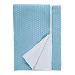 Nine Space - Anchor Beach Towel, Sky Blue - This 100 percent Turkish cotton towel will have you looking shipshape. It features an allover anchor print that helps to repel sand, while the reverse side's soft, cotton-terry loops wick away moisture. It's the perfect companion at the beach, poolside or even at a picnic.
