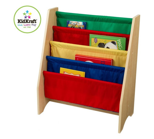 KidKraft - Primary Sling Bookshelf by Kidkraft - Getting children excited about reading isn't always a simple task, but our new Sling Bookshelf makes story time a lot more fun. This shelf is the perfect gift for the young readers in your life.