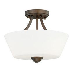 Vaxcel Lighting - Vaxcel Lighting C0063 Calais 3 Light Semi-Flush Ceiling Fixture - Features: