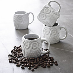 """Owl Espresso Mug - """"Whoo"""" wouldn't find these owl mugs darling? We love that their simple yet distinctive design would feel right at home in both modern and vintage kitchens."""