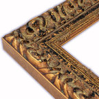 The Frame Guys - Wide Milan Gold/Black with Beaded Edge Picture Frame-Solid Wood, 10x10 - *Wide Milan Gold/Black with Beaded Edge Picture Frame-Solid Wood, 10x10