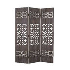 Shinto Screen - If something offends you, block it out with this beautiful wooden carved screen. It's finished on both sides and lets light shine through while giving you a lovely and interesting room accent.