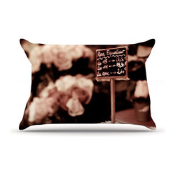 "Kess InHouse - Ann Barnes ""Paris Flower Market"" Pillow Case, Standard (30"" x 20"") - This pillowcase, is just as bunny soft as the Kess InHouse duvet. It's made of microfiber velvety fleece. This machine washable fleece pillow case is the perfect accent to any duvet. Be your Bed's Curator."