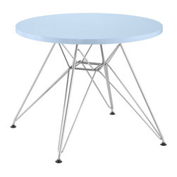 Zuo Modern - Wacky Table Blue - Include the Wacky children's table in every home today. With a MDF top and a chrome steel base, the Wacky table provides every child a place for reading, writing, and creating dreams.