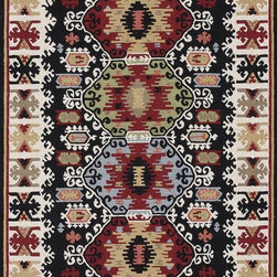 Loloi Rugs - Loloi Rugs Taos Black Transitional Hand Hooked Rug X-656300LB10-OTSOAT - The Taos Collection tells the story of updated tribal kilims in an unexpected hand-hooked-polyester construction from China. While paying homage to popular nomadic kilim patterns, Taos infuses an updated palette and textured hooked surface for a hip, youthful take on this classic category.