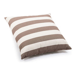 ZUO - Pony Outdoor Pillow - Large - Bold stripes of sand and brown make the Pony Pillow a perfect accent piece. Overstuffed and water resistant, it's just right for that warm outdoor lounger. Comes in small or large.