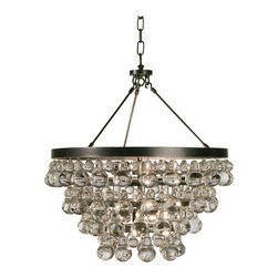 Robert Abbey - Robert Abbey Bling Chandelier with Convertible Double Canopy Z1000 - Deep Patina Bronze Finish