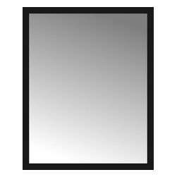 """Posters 2 Prints, LLC - 49"""" x 61"""" Soho Black Custom Framed Mirror - 49"""" x 61"""" Custom Framed Mirror made by Posters 2 Prints. Standard glass with unrivaled selection of crafted mirror frames.  Protected with category II safety backing to keep glass fragments together should the mirror be accidentally broken.  Safe arrival guaranteed.  Made in the United States of America"""